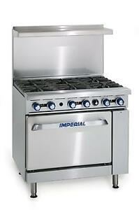 Imperial Range Ir 6 c Six 6 Burner Stove With Convection Oven New