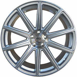 4 Gwg Wheels 20 Inch Staggered Silver Mod Rims Fits Ford Mustang 2005 2014
