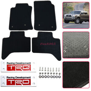 Diy For 05 10 Toyota Tacoma Floor Mats Carpets Nylon Black Metal Trd Emblem