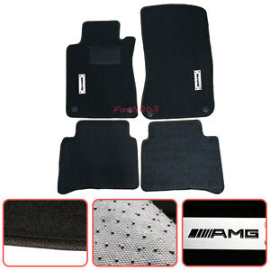 For 2003 2008 Mercedes Benz W211 E class Floor Mats Carpets Nylon Black Amg