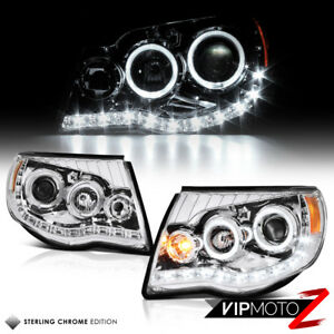 For 05 11 Toyota Tacoma 2wd 4wd Chrome Altezza Halo Led Projector Headlights Set