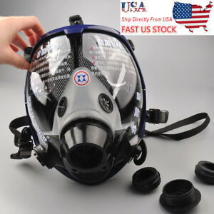 Usa Ship Full Face Gas Mask Anti dust Piece Respirator Painting Spraying Safety