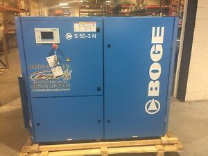 Boge 50hp Rotary Screw Compressor sullair Ingersoll Rand Atlas Copco Kaeser