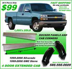 Rocker Panels And Cab Corners Gmc Sierra 4 Door Extended Cab 2005 Fast Ship