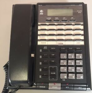 At t Lucent Model 854 4 line Intercom Business Speaker Phone