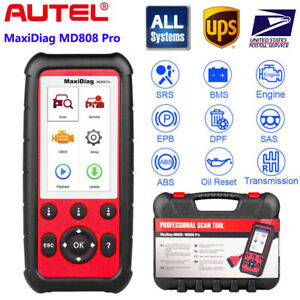 Autel Maxidiag Md808 Pro Obd2 Code Reader Scanner Abs Srs Sas Bms Airbag Md806