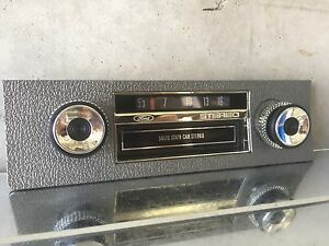 Ford Xw Xy Gt Gs Falcon Fairmont 8 Track Dummy Radio Face Ho 351 Argent Silver