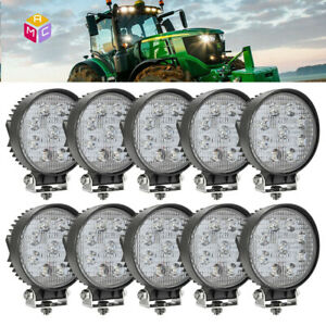 10pcs 4 Flood Work Led Combine Light Bar John Deere 9400 9500 9600 Tractor 2355