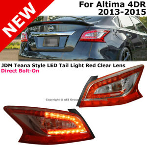 For Altima Teana 13 15 14 Rear Led Tail Lights Lamp Chrome Red Jdm Conversion