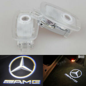 2x Ghost Led Door Step Courtesy Shadow Laser Light Mercedes 07 12 S Class Amg