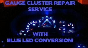 Gm Chevy Silverado Gauge Cluster Repair W Blue Leds 2003 2006 Speedometer