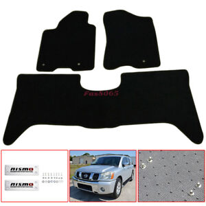 Diy For 2005 2010 Nissan Armada Titan Floor Mats Nylon Black W nismo Emblem