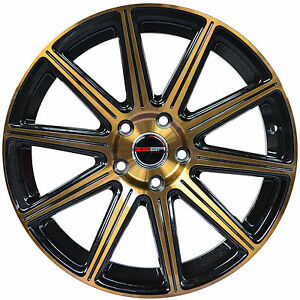 4 Gwg Wheels 22 Inch Bronze Mod Rims Fits Chevy Impala old Body Style 2014