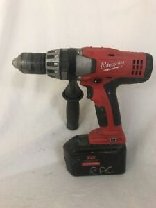 Milwaukee 1 2 Hammer Drill 0824 20 With 18 Volt Battery