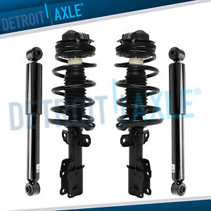 4pc 2003 2004 2005 2006 2007 Saturn Ion Front Quick Strut 2 Rear Shocks