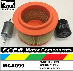 Filter Service Kit For Ford Ranger Px Dpat 2 5 Litre Turbo Petrol 9 11 To Feb 2