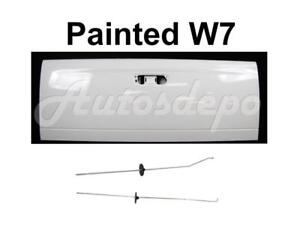 Painted W7 White Tailgate Latch Rod Set For 2002 2008 Dodge Ram Pickup