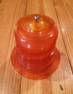 Vintage K d Amber Ls347 Beacon Strobe Lens Emergency Truck Road Construction
