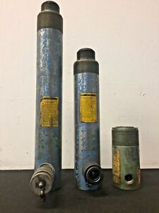 Lot Of 3 Hydraulic Cylinders Ys 106 d Ys 107 d And T32402
