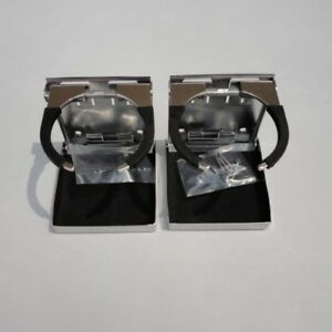 2x 316 Stainless Steel Adjustable Folding Cup Drink Holder For Marine Boat Truck