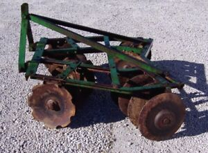 Nice John Deere 5 5 Ft 3 Pt Lift Disc Harrow we Can Ship Cheap And Fast