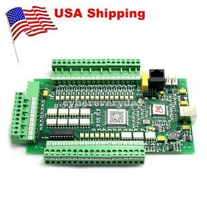 4 Axis Usb Cnc Mach3 Breakout Interface Stepper Motor Controller Motion Card Us