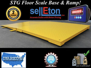 New Industrial 60 X 60 Floor Scale With Ramp 10 000 Lbs X 1 Lb Digital Pallet
