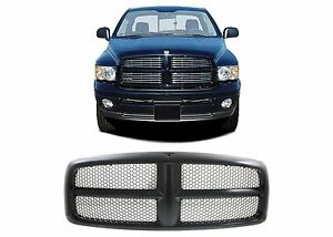 Replacement Black Paintable Grill For 2002 2005 Dodge Ram 1500 2500 3500 New Usa