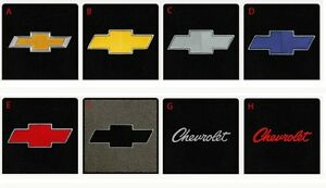 New Black Floor Mats 1960 1983 Chevy Pickup Truck C10 K10 Embroidered Logo