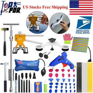 Us 70x Pdr Paintless Dent Repair Auto Body Dent Puller Lifter Damage Hail Tools