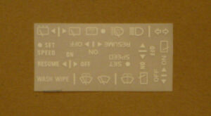 Volvo 240 740 940 Instrument Decal Set