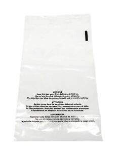 300 12x15 5 Suffocation Warning Clear Self Seal Poly Bag 1 5 Mil Free 2 Day Ship