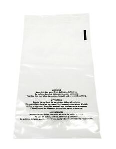 100 14 5x19 Suffocation Warning Clear Self Seal Poly Bag 1 5 Mil Free 2 Day Ship