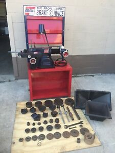 Ammco Brake Lathe 4000b For Rotor Drum Large Set Of Adapters 6950