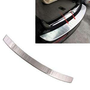 Stainless Steel Rear Bumper Protector Sill Plate Cover For Audi Q5 Sline 09 2015