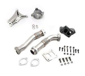 Non Ebp Turbo Pedestal Exhaust Housing Up Pipes For 94 97 Ford 7 3 Powerstroke
