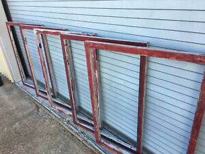 5 Used Aluminum Screen Printing Frames 38 X 47 No Mesh