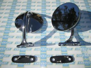 1948 1954 Chevrolet Outside Rear View Mirrors Show Quality Pair