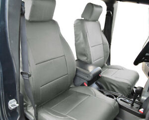Jeep Wrangler Jk 4doors 2007 2012 Grey Leather like Custom Fit Front Seat Cover