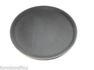 14 Black Round Cocktail Tray Anti Skid Plastic Bar Waitress Waiter Server