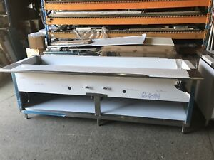 96 Stainless Steel Steam Table 7 Pans 2 Burner Nat Gas 40 000 Btu Nsf Approved