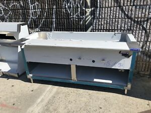 72 Stainless Steel Steam Table 5 Pans 2 Burner Nat Gas 40 000 Btu Nsf Approved
