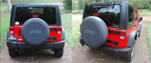 Genuine Oem Jeep Black Grey Denim Spare Tire Cover 32 33 New Free Shipping