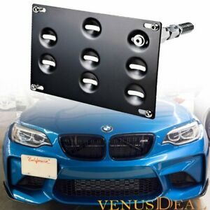 Front Bumper Tow Hook License Plate Mount Bracket For Bmw 3 4 5 Series Mini R60