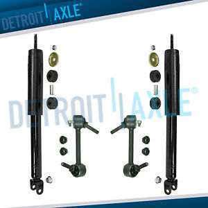 Both 2 New Rear Shock Absorbers Sway Bar End Links For Ford Flex Lincoln Mkt