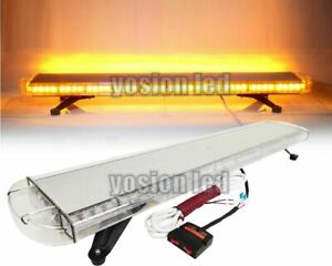 47 88 Led Emergency Beacon Light Bar Roof Truck Warning Flash Strobe Lamp Amber
