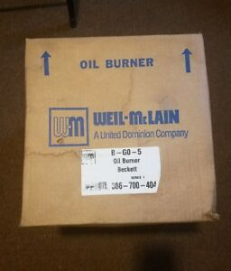 Go 5 Beckett Oil Burner For Wgo 5 wtgo 5 sgo 5 Boilers Weil Mclain P 386 700 404