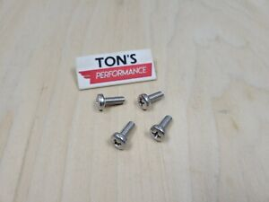 Oem Replacement 4 Honda Luxury Auto License Plate Screws Stainless Steel Bolts