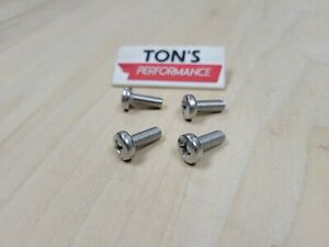 4 Replacement Luxury Auto License Plate Screws Stainless Steel Bolts Lexus
