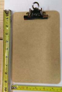 24 Ea A W 4008 6 X 9 Memo Sized Masonite Clipboards W Metal Spring Clip